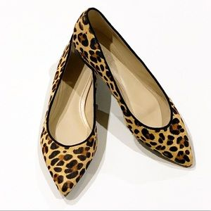 MARC FISHER Alanyz-M Leopard Print Flats Size 6
